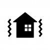 家の耐震をイメージした白黒シルエットイラスト02