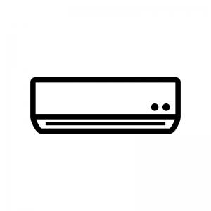 エアコンの白黒シルエットイラスト