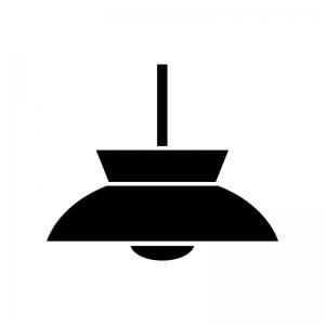 照明・ライトの白黒シルエットイラスト