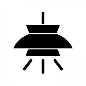 照明・ライトの白黒シルエットイラスト02