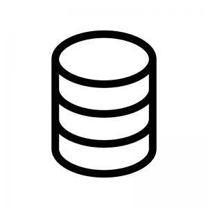 データベースの白黒シルエットイラスト