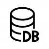 データベースの白黒シルエットイラスト02