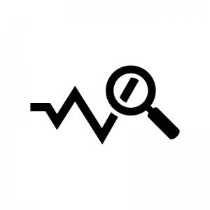 分析アイコンの白黒シルエットイラスト02