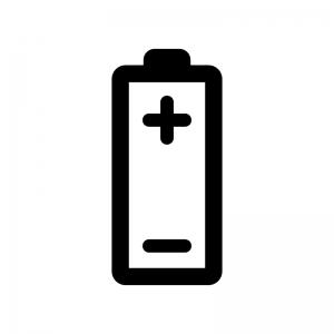 乾電池の白黒シルエットイラスト02