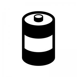 乾電池の白黒シルエットイラスト03