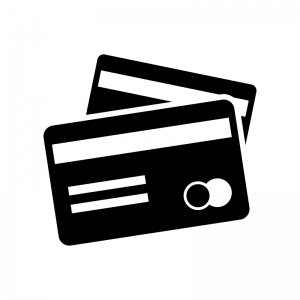 カード類の白黒シルエットイラスト02