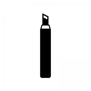 彫刻刀(切り出し)の白黒シルエットイラスト
