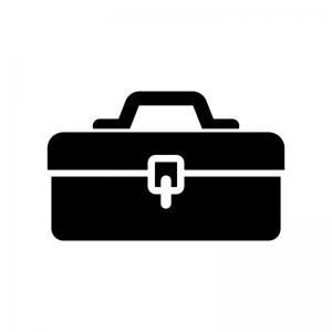 工具箱の白黒シルエットイラスト02