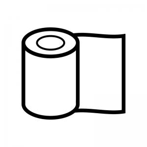 包帯の白黒シルエットイラスト