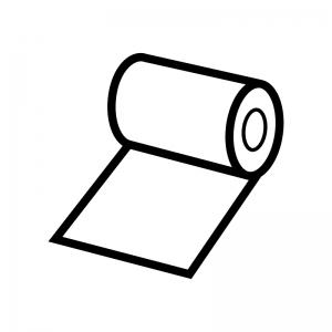 包帯の白黒シルエットイラスト02