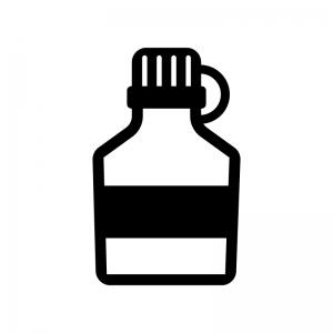 消毒液の白黒シルエットイラスト