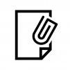 ファイル添付の白黒シルエットイラスト