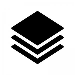 レイヤーアイコンの白黒シルエットイラスト