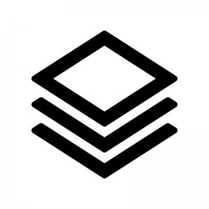 レイヤーアイコンの白黒シルエットイラスト02