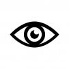 目・瞳の白黒シルエットイラスト02