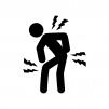肩・腰・膝の痛みの人物の白黒シルエットイラスト