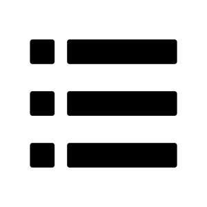箇条書きマークの白黒シルエットイラスト