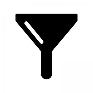フィルターマークの白黒シルエットイラスト
