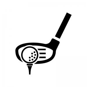 ゴルフ・ウッド(ドライバー)とボール