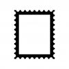 切手の白黒シルエットイラスト02