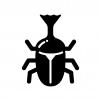 カブトムシの白黒シルエットイラスト