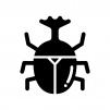 カブトムシの白黒シルエットイラスト02
