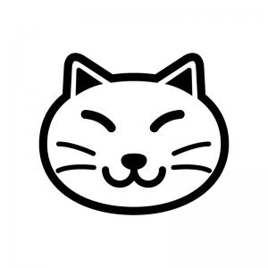 猫の顔のシルエット02 無料のai Png白黒シルエットイラスト