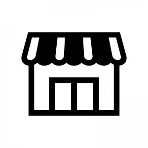 お店・店舗の白黒シルエットイラスト