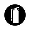 消火器マークの白黒シルエットイラスト
