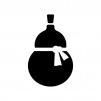 ひょうたんの白黒シルエットイラスト