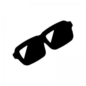 サングラスの白黒シルエットイラスト03