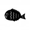 鯛の白黒シルエットイラスト