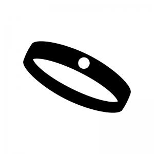 指輪の白黒シルエットイラスト