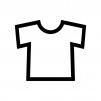 Tシャツの白黒シルエットイラスト02