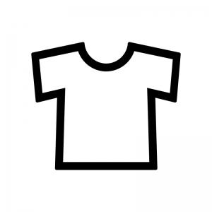 Tシャツのシルエット02 無料のaipng白黒シルエットイラスト