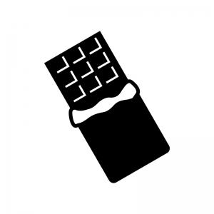 板チョコの白黒シルエットイラスト