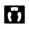 体重計(アナログ)の白黒シルエットイラスト