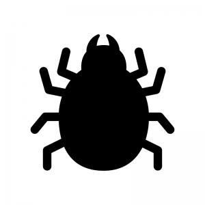 ダニ・害虫の白黒シルエットイラスト