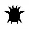 ダニ・害虫の白黒シルエットイラスト02