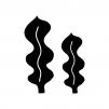 海藻の白黒シルエットイラスト