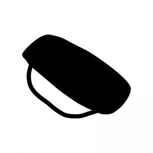 握り寿司の白黒シルエットイラスト