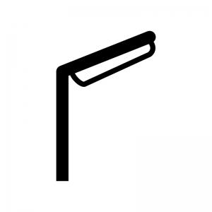 街灯の白黒シルエットイラスト