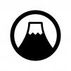 富士山の白黒シルエットイラスト02