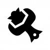 打ち出の小槌の白黒シルエットイラスト02