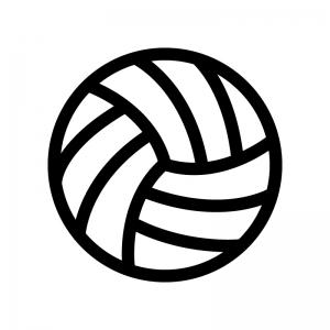 バレーボールの白黒シルエットイラスト