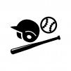 野球の白黒シルエットイラスト