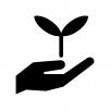 エコロジーの白黒シルエットイラスト
