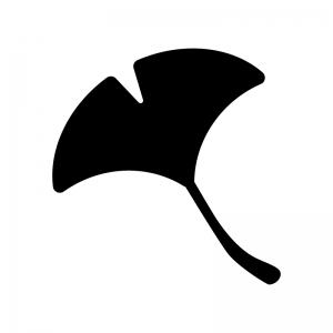 紅葉・いちょうの白黒シルエット
