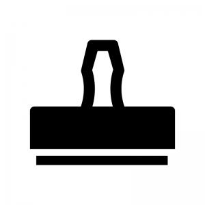 スタンプの白黒シルエットイラスト02