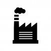 工場の白黒シルエットイラスト02